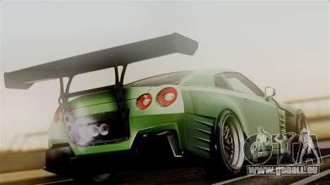 Nissan GT-R R35 Bensopra 2013 pour GTA San Andreas laissé vue
