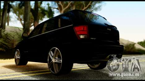 Jeep Grand Cherokee SRT8 Restyling M Final pour GTA San Andreas laissé vue