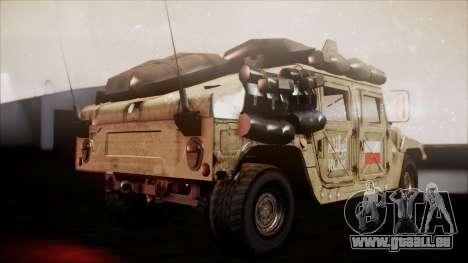 Polish HMMWV pour GTA San Andreas sur la vue arrière gauche