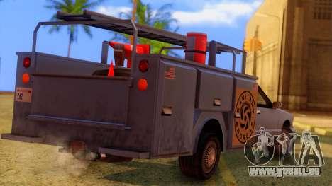Premier Utility Van pour GTA San Andreas laissé vue