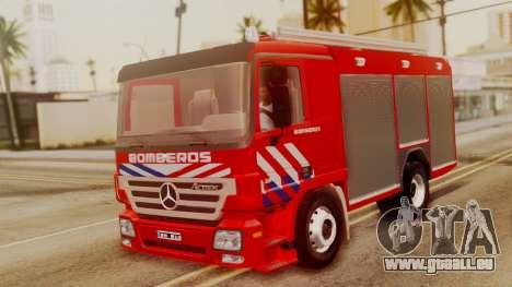 Mercedes-Benz Actros Bomberos pour GTA San Andreas