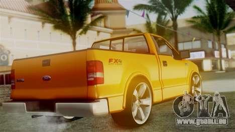 Ford F-150 Sport pour GTA San Andreas laissé vue