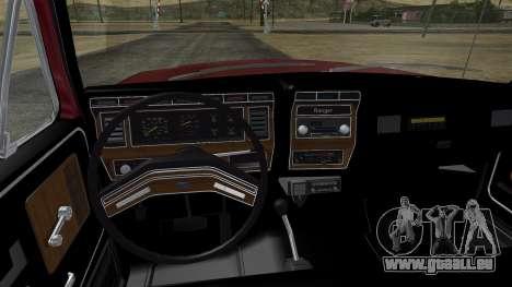 Ford F-150 Ranger 1984 für GTA San Andreas Innenansicht