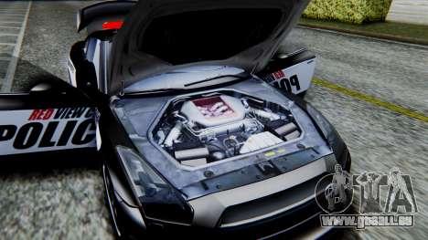 NFS Rivals Nissan GT-R R35 für GTA San Andreas Rückansicht