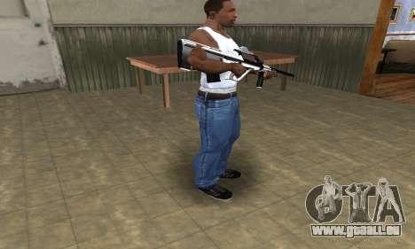 Chrome AUG für GTA San Andreas dritten Screenshot