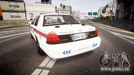 Ford Crown Victoria Bohan Police [ELS] WL pour GTA 4 Vue arrière de la gauche