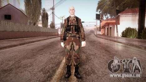 Shaved Soldier für GTA San Andreas zweiten Screenshot