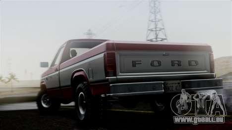 Ford F-150 Ranger 1984 pour GTA San Andreas laissé vue