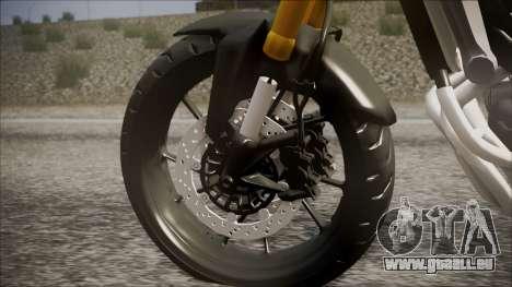 Yamaha MT-09 pour GTA San Andreas sur la vue arrière gauche
