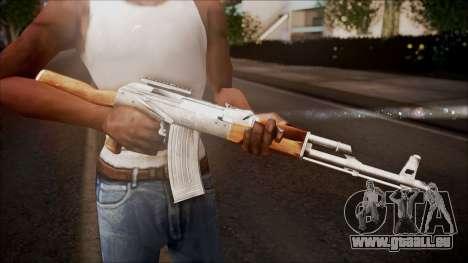 AK-47 v1 from Battlefield Hardline pour GTA San Andreas troisième écran