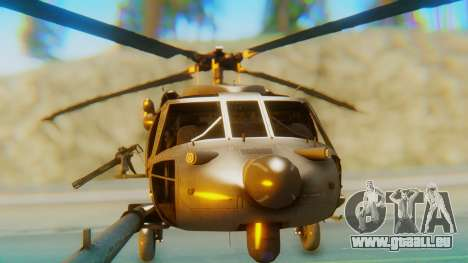MH-60L Blackhawk für GTA San Andreas Innenansicht