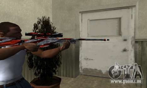Red Flag Sniper Rifle für GTA San Andreas