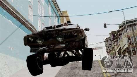 Post-apocalyptic Buffalo für GTA San Andreas zurück linke Ansicht