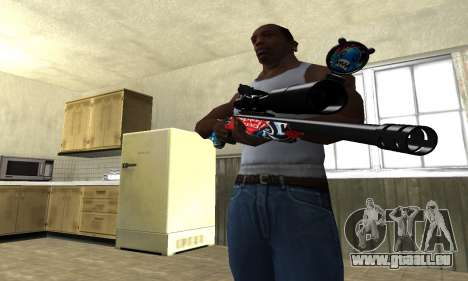 Red Shark Sniper Rifle pour GTA San Andreas