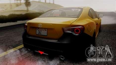Toyota GT86 PJ pour GTA San Andreas vue de dessus
