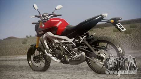 Yamaha MT-09 pour GTA San Andreas laissé vue