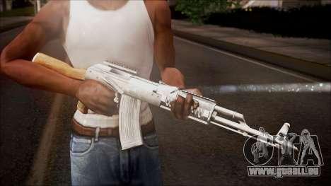 AK-47 v2 from Battlefield Hardline für GTA San Andreas dritten Screenshot