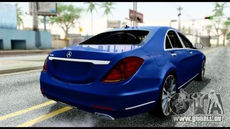 Mercedes-Benz S-class W222 2014 für GTA San Andreas zurück linke Ansicht