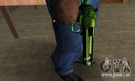 Green Clayn Deagle pour GTA San Andreas