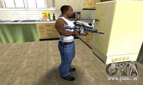 Blue Snow Sniper Rifle für GTA San Andreas dritten Screenshot