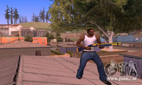 Shotgun BlueYellow für GTA San Andreas dritten Screenshot