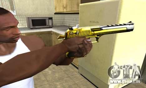Yellow Deagle für GTA San Andreas