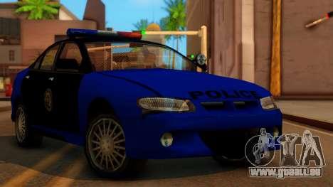 Police HSV VT GTS SA Style pour GTA San Andreas