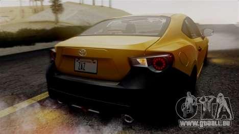 Toyota GT86 PJ pour GTA San Andreas vue de côté