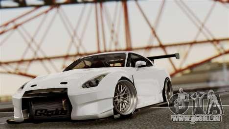 Nissan GT-R R35 Bensopra 2013 pour GTA San Andreas vue de côté