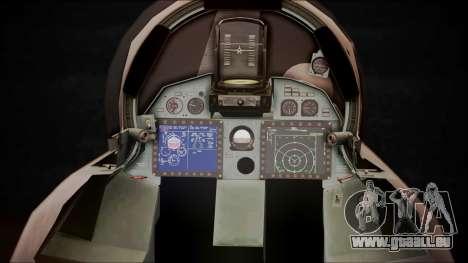 SU-35 Flanker-E Ofnir Ace Combat 5 für GTA San Andreas Rückansicht