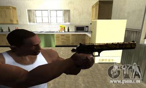 Yellow Jungle Deagle pour GTA San Andreas troisième écran