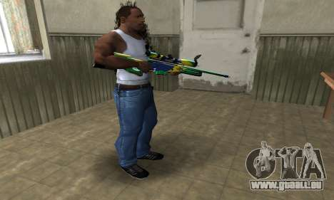 Three Colors Sniper Rifle pour GTA San Andreas troisième écran