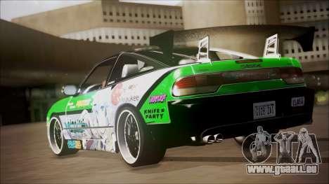 Nissan 240SX Sinon Itasha pour GTA San Andreas sur la vue arrière gauche