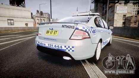 Ford Falcon FG XR6 Turbo Police [ELS] pour GTA 4 Vue arrière de la gauche