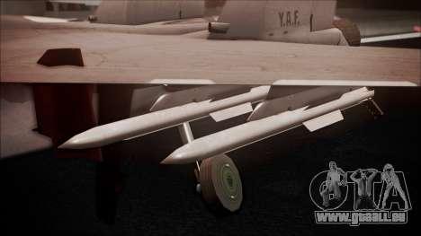 SU-35 Flanker-E Ofnir Ace Combat 5 für GTA San Andreas rechten Ansicht