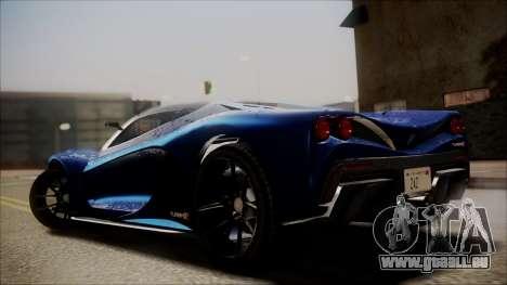 GTA 5 Grotti Turismo R SA Style für GTA San Andreas linke Ansicht