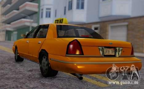 Ford Crown Victoria Taxi pour GTA San Andreas laissé vue