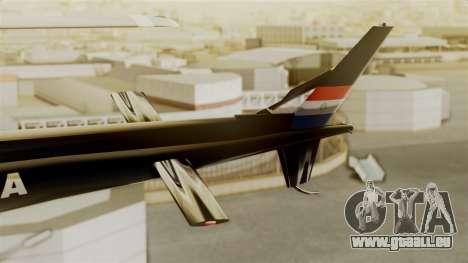 Helicopter National Police of Paraguay für GTA San Andreas zurück linke Ansicht