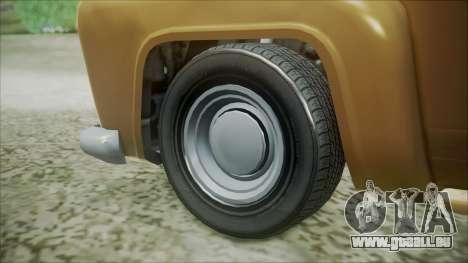 GTA 5 Vapid Slamvan pour GTA San Andreas sur la vue arrière gauche