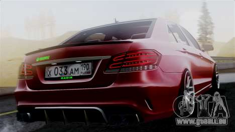 Mercedes-Benz W212 E63 AMG pour GTA San Andreas laissé vue
