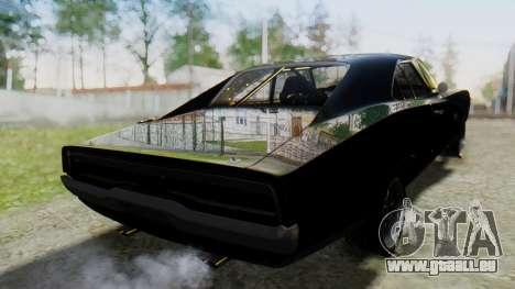 Dodge Charger RT 1970 Fast & Furious pour GTA San Andreas laissé vue