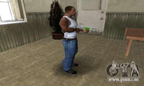 Green Lines Shotgun pour GTA San Andreas troisième écran