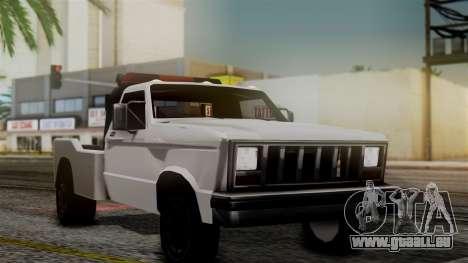 Towtruck New Edition pour GTA San Andreas sur la vue arrière gauche