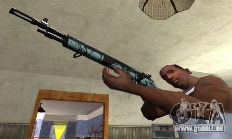 Green Forest Rifle für GTA San Andreas zweiten Screenshot