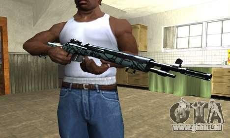 Green Forest Rifle für GTA San Andreas