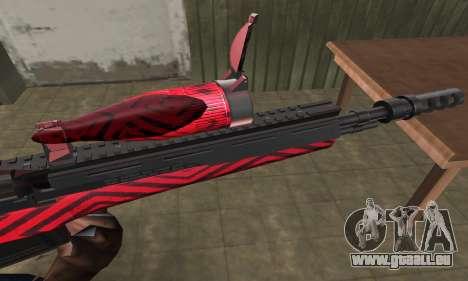 Red Romb Sniper Rifle pour GTA San Andreas deuxième écran
