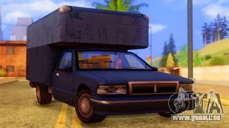 Premier Truck pour GTA San Andreas vue de droite