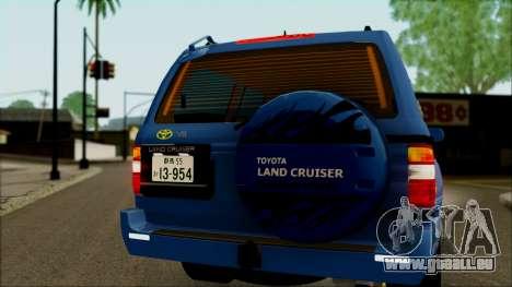 Toyota Land Cruiser 100 UAE Edition pour GTA San Andreas vue intérieure