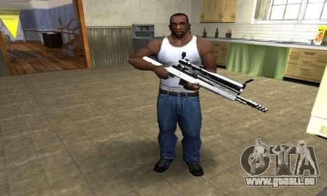 Bitten Sniper Rifle pour GTA San Andreas troisième écran