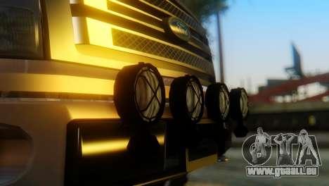 Ford F-150 2013 Work Hard für GTA San Andreas Rückansicht